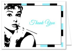 Breakfast at Tiffany's Bridal Shower Thank You Cards