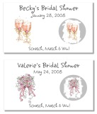Bridal Shower Bachelorette Party Wedding Scratch Off  Game Tickets
