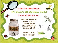 Bugs Insects Nature Birthday Party Invitations