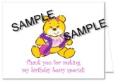 Build a Bear Workshop Thank You Note Cards