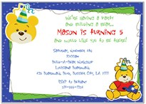 Build a Bear Workshop Birthday Party Invitations Boy