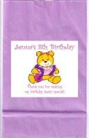 Build a Bear Workshop Birthday Party Goodie Loot Bag Labels