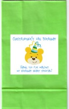 Build a Bear Workshop Birthday Party Boy Goodie Loot Bag Labels