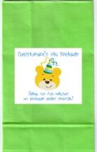 Build a Bear Workshop Birthday Party Boy Goodie Loot Bag Labels