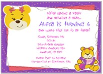 Build a Bear Workshop Birthday Party Invitations