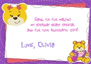 Build a Bear Workshop Thank You Cards