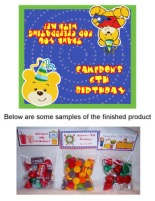 Build a Bear Birthday Boy Party Bag Toppers w/Recloseable Bags