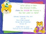 Build a Bear Workshop Birthday Party Invitations Boy or Girl