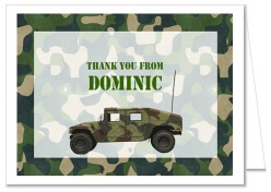 Camouflage Military Army Thank You Note Cards