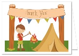 Camp Out Camping Boy Thank You Note Cards