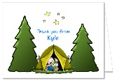 Camp Out Camping Thank You Note Cards