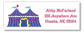 Carnival Circus Amusement Park Return Address Labels