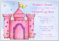 Princess Castle Birthday Party Invitations
