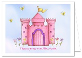 Princess Castle Thank You Note Cards Personalized