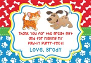 Dog and Cat Thank You Cards