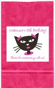 Diva Kitty Cat Birthday Party Goodie Loot Bag Labels Favors