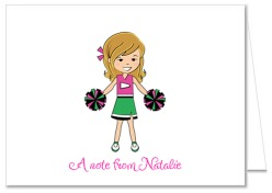 Cheerleader Birthday Party Thank You Note Cards