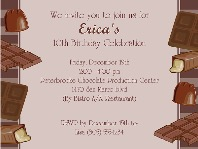 Chocolate Themed Birthday Party Invitations