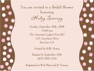 Trendy Pink Brown Polka Dots Bridal Shower Invitations