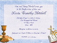 Confirmation First Communion Religious Invitations Boy