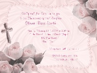 Baptism Christening First Communion Religious Pink Girl Invitations