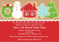 Christmas Holiday Cookie Swap Exchange Invitations