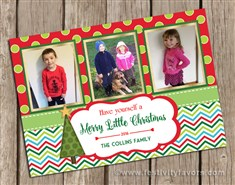 Christmas Photo Cards Chevron