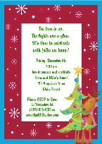 Christmas Reindeer Party Invitations
