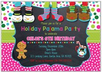 Christmas Holiday Pajama Party Invitations