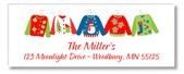 Christmas Ugly Sweater Return Address Labels