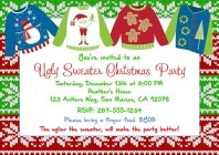 Christmas Party Invitations - Ugly Sweater 4