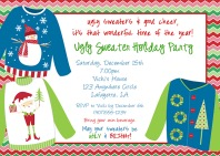 Christmas Party Invitations - Ugly Sweater 3
