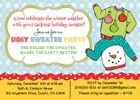 Christmas Party Invitations - Ugly Sweater 2