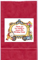 Circus Clown Birthday Party Goodie Loot Bag Labels