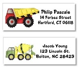Construction Trucks Return Address Labels