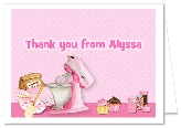 Cooking Baking Birthday Party Thank You Note Cards