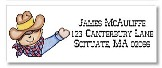 Cowboy Return Address Labels