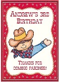 Cowboy Birthday Crayon Box Labels Favors