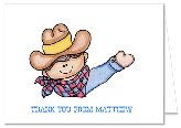 Cowboy Birthday Party Thank You Note Cards