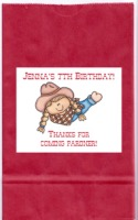 Cowgirl Birthday Party Goodie Loot Bag Labels Favors