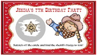 Cowgirl Scratch Off Tickets Personalized