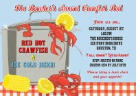 Crawfish Boil Party Invitations