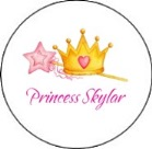 Princess Crown Round Envelope Seals