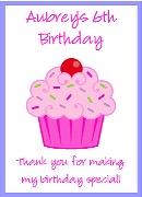 Cupcake Birthday Personalized Crayon Box Labels