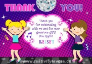 Dance Party Thank You Cards