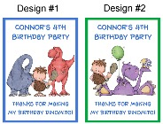 Dinosaur Birthday Personalized Crayon Box Labels Favors