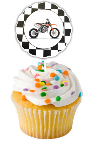 Dirt Bike Cupcake Toppers