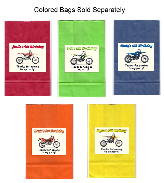 Dirt Bike Birthday Party Goodie Loot Bag Labels Favors