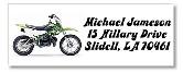 Dirt Bike Personal Return Address Labels