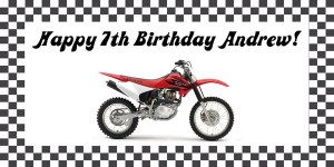 Dirt Bike Birthday Party Banner
